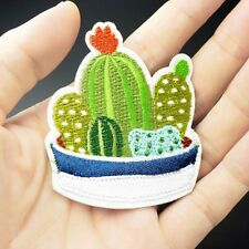 Succulent Plant Patch Cactus Embroidered Applique Sewing DIY Iron On Patchwork