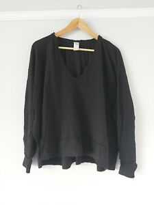 Free People Black V Neck Long Sleeve Top BNWOT Size Xs Sample