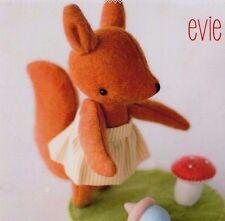 PATTERN - Evie - cute wool felt Squirrel softie/toy PATTERN - May Blossom
