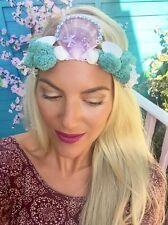 Purple Diamond Mermaid Shell Crown Sea Weed Hair Band Choochie Choo Hippy Beach