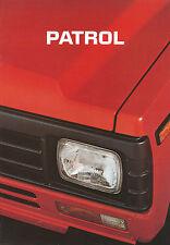 Prospekt Datsun Nissan Patrol 1985 Autoprospekt 1 85 Auto Pkw Geländewagen
