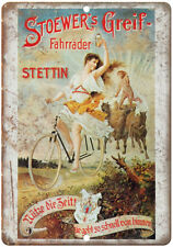 """Stoewer's Greig Bicycle Vintage Ad 10"""" x 7"""" Reproduction Metal Sign B346"""