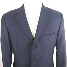 ALEXANDER MCQUEEN Men's Sz 50 Wool 3 Button Winter Blazer Navy Made in Italy HH
