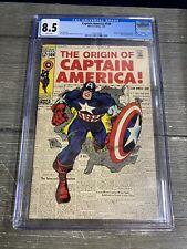 CGC 8.5 Captain America #109 Origin of Captain America Retold Marvel