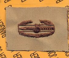 US Army CAB Combat Action Badge Desert DCU cloth patch