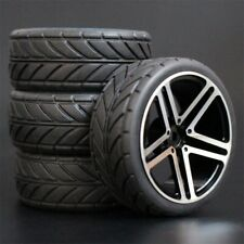 1/10 Rc Car Aluminium Wheels Rubber Tires For Hpi Rs4 Sprint2 Kyosho Fazer