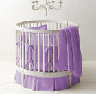 "42"" dia Round Crib Baby Bedding set 5Pc Fitted Pillowsham Comforter Skirt Bumper"