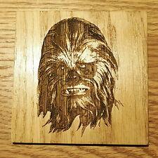 STAR Wars Chewbacca Wookie Wooden Coaster regalo GEEK CHIC