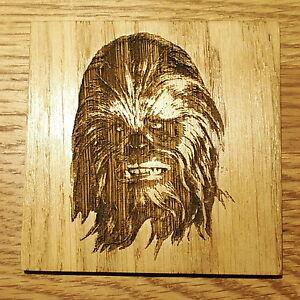 Star Wars Chewbacca Wookie Wooden Coaster Birthday Gift Geek Chic