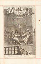 1690 Biblical Copper Etching- NICODEMUS COMING TO OUR SAVIOR - BLOME-ORIGINAL