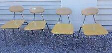 Melsur Chrome Composite Chairs Kitchen Desk School Mid Century Modern Island Vtg