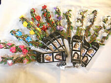 12pcs Headband Hairband flower Mixed color Hair Accessories .