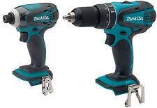 Makita XPH10 18V Cordless 1/2 Hammer Drill and XDT11 1/4 Impact Fits BL1830