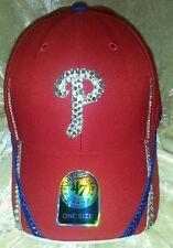 Philadelphia Phillies Womens Rhinestone Bling 47 Brand MLB Baseball Cap ~NEW~