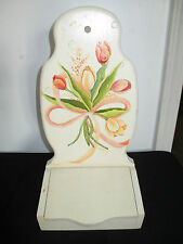 """Wooden Wall Mount Box Holder, Keys, Notes, Versatile, 15"""" Hand Painted"""