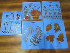 *YOU CHOOSE* SUPER STENCIL MANIA: mylar~Plaid~paper~border~letters~garden~flower