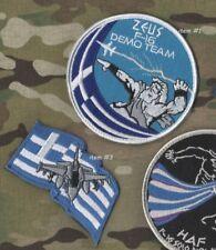 GREEK HELLENIC AIR FORCE HAF F-16 Zeús Δίας DEMO TEAM burdock SET:  item#1 + #3