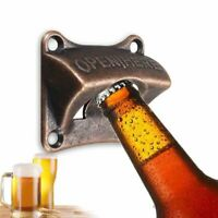 Beer Wall Bottle Opener Mount Iron Cast Soda Bar Mounted Open Vintage Cap Remove