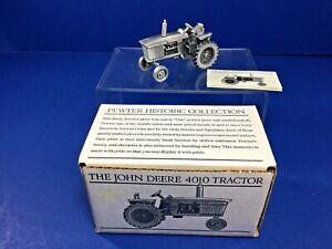 Vintage Spec-Cast, Pewter John Deere 4010 Tractor,1:43 Scale  Mdll #JDM-001, NIB