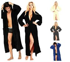 100%Egyptian Cotton Toweling Bath Robe Unisex Dressing Gown Luxury Terry Towel