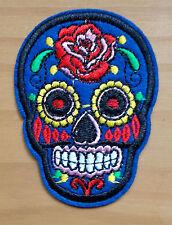 "Skull Patch Patch-Mexican Skull ""Flower-Skull"" Biker sotana EyeCatcher"