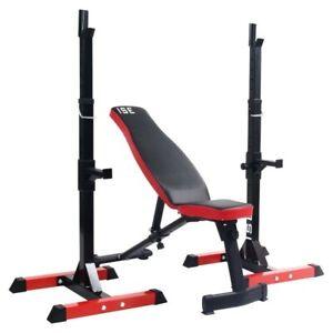 Banc de musculation & supports haltères cage à squats entraînement fitness sport