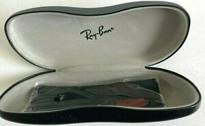 Ray Ban Eyeglass Case Hard Shell Black With Cleaning Cloth Included