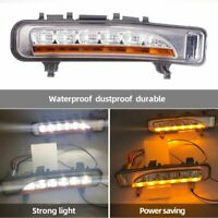 Pair LED Daytime Running Light Turn Signal Fog Lamp DRL For Ford Edge 2009-2014