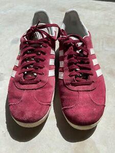 Adidas Gazelle size UK9 - Red & White