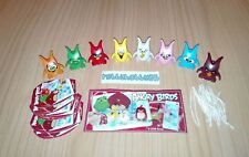 KINDER JOY - ANGRY BIRDS COMPLETE SET OF 8 WITH ALL PAPERS - FERRERO ITALY 2018