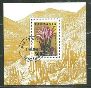 TANZANIA 1395 CTO SOUVENIR SHEET CACTUS FLOWER