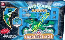 "Power Rangers Lightspeed Rescue Trans Armor Cycle 5"" Green Ranger Factory Sealed"