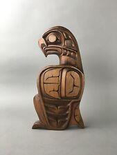 Kwakiutl Native NW Pacific Coast Wood Carved Eagle Sculpture - Alfred Robertson