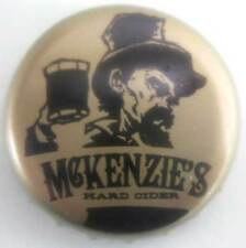 McKENZIE'S HARD CIDER used CROWN Bottle CAP with MAN w/ HAT holding mug NEW YORK