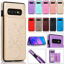 Flip Leather Wallet Card Slot Case Cover For Samsung Galaxy S10e S9 S8 S7 Plus