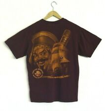 Captain Morgan Rum Men's Maroon Dark Red Classic SS T-Shirt Tee Medium Pirate