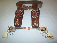 Pair of Kilgore Buckeroo Toy Cap Gun's w/Gabriel Double Holster. Working.