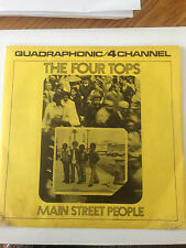 """THE FOUR TOPS JUKEBOX EP 45-W/PS    """"MAIN STREET PEOPLE""""   QUAD!  NEAR MINT!"""