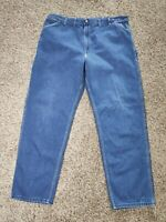 Vtg 80s Carhartt USA Union Made Triple Stitch Denim Carpenter Jeans 42x32 Loop