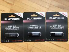 5 !!!! x USB Stick 3.0 Platinum 64 GB Flash Drive Super Speed Alu - neu