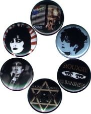 Siouxsie & the Banshees: Set of 6 Buttons-Pins-Badges