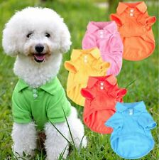 Cute Puppy Dog Polo Shirts Pet Puppy T-Shirt Clothes Outfit Apparel Coats Tops
