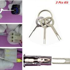3 Pcs Car Electrical Terminal Key Pin Wiring Crimp Connector Removel Puller Tool