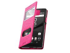 Etui Housse Coque Pochette Double Fenetre Flip Sony Xperia XZ 1 Plus - Rose
