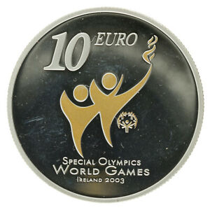Ireland - Silver 10 Euro Coin - 'Special Olympics' - 2003 - Proof