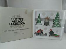 "Dept 56 New England Village ""New England Winter Accessory Set"" #65323 Excellent"