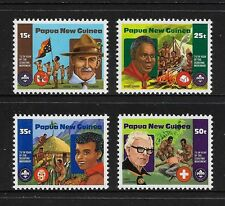 PAPUA NEW GUINEA 1982 Boy Scouts, Scouting, No.1, mint set of 4, MNH MUH