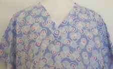 Nurse Scrub Pink Hearts Plus Size 2X Ua Scrubs Blue Circles Medical Hospital