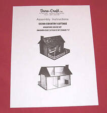 Dura-Craft  *COUNTRY COTTAGE* CC-100  Dollhouse Instructions