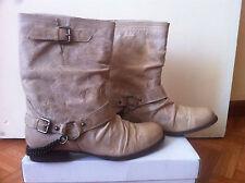 Boots originales ASOS beige cuir vintage taille 40 NEUVES!